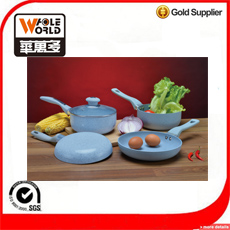 6 PCS Stone coating cookware set